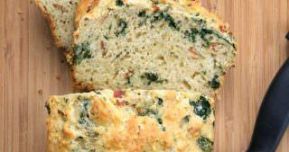{Guilt Free} Savory Prosciutto, Kale & Parmesan Bread