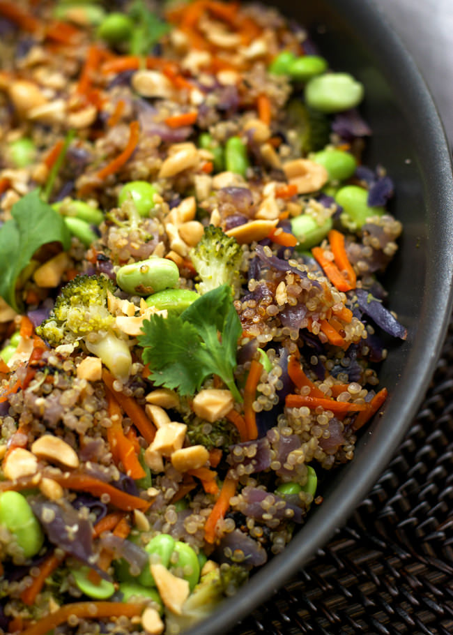 One Pot Thai Quinoa Bowl