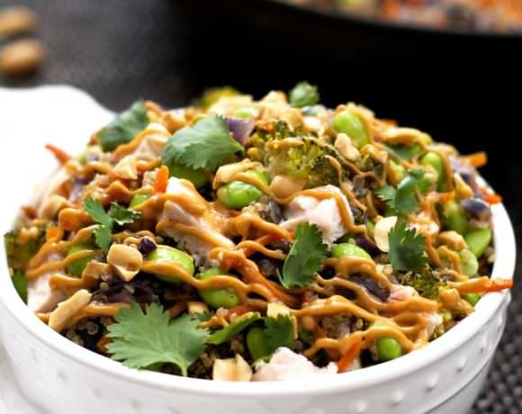 One Pot Thai Quinoa Bowl with Chicken