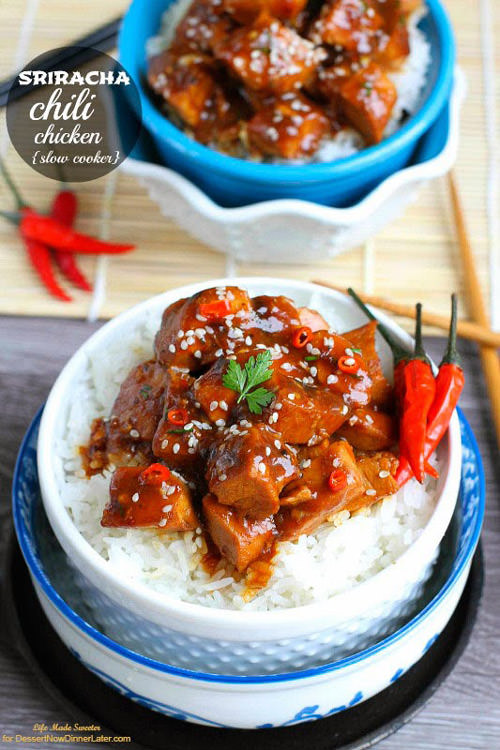Slow Cooker Sriracha Chili Chicken