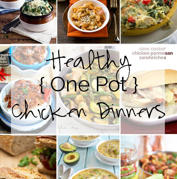 Simplify post-dinner clean up with these delicious one pot chicken dinners to assure you have a tasty dinner on the table and have time to relax! #crockpot #chicken #easy #dinner