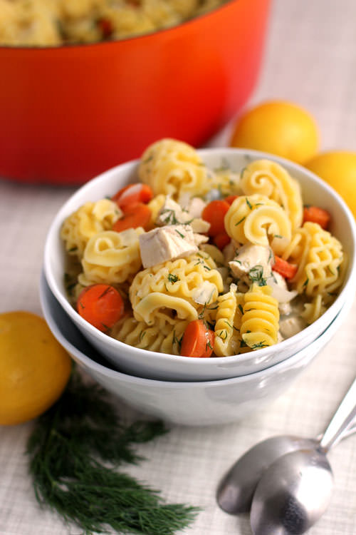 Lemon Dill Chicken Noodle Soup