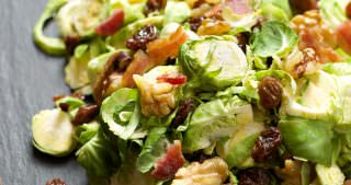 Shaved Brussels Sprout Salad with Maple Dijon Vinaigrette