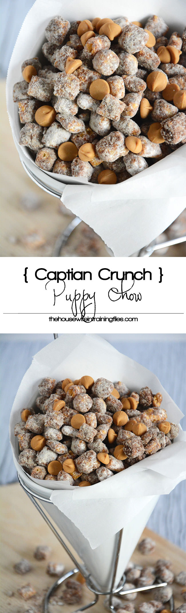 Peanut Butter Puppy Chow gets a Captain Crunch makeover with a childhood classic cereal!