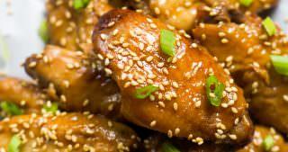 Slow Cooker Garlic Honey Teriyaki Chicken Wings-