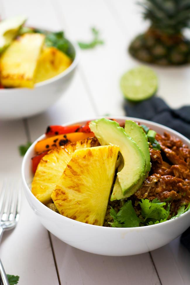 Slow Cooker Hawaiian Pork Burrito Bowls