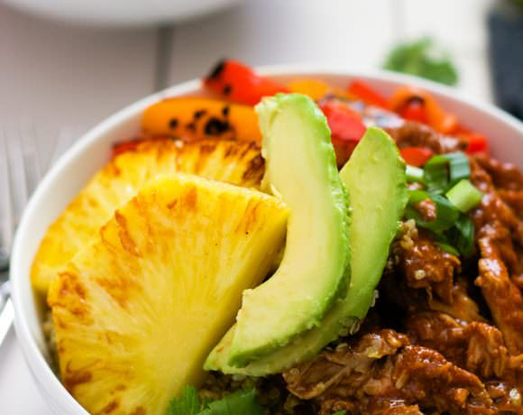 Slow Cooker Hawaiian Pork Burrito Bowls