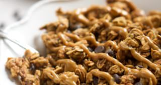 Lighter Peanut Butter Cup Granola