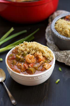 {One Bowl} 30 Minute Big Easy Shrimp & Chicken Gumbo