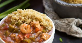 One Bowl 30 Minute Big Easy Shrimp and Chicken Gumbo