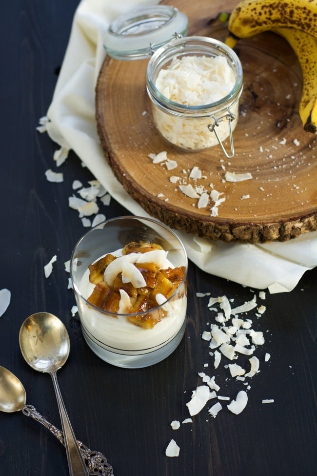 Skinny Banana Fosters Cheesecake Parfaits are madeover with cheesecake ...