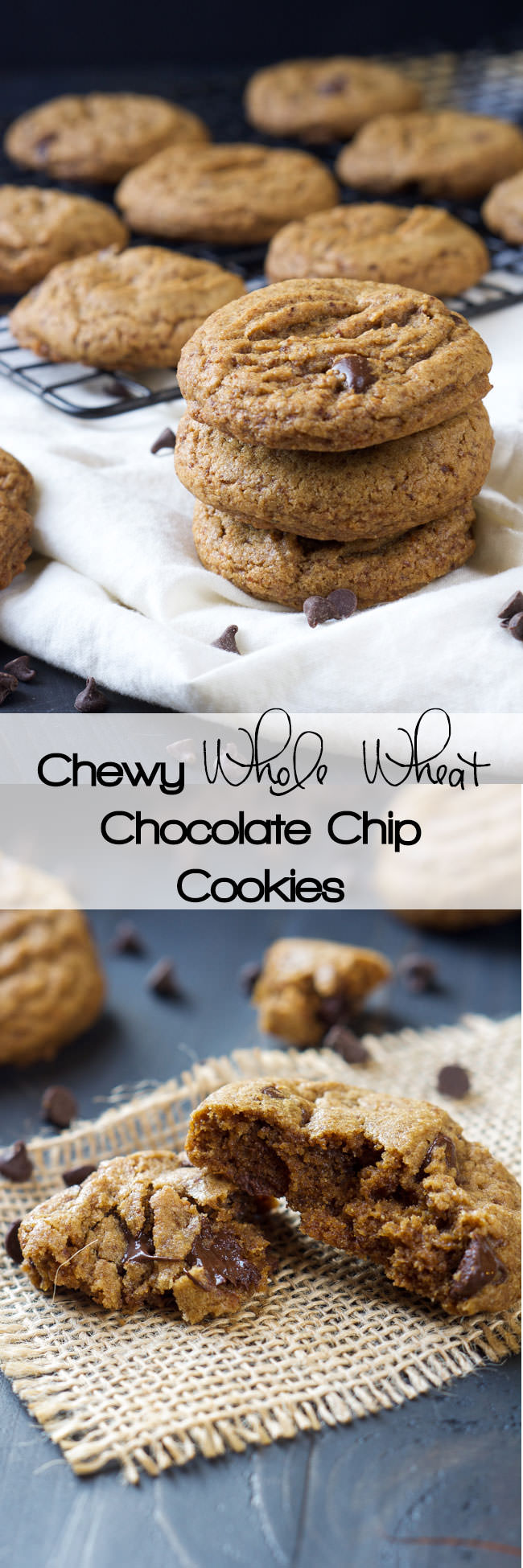 Whole Wheat Chocolate Chip Cookies With Coconut Sugar
