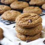 A healthier spin on the classic, these Chewy Whole Wheat Chocolate Chip Cookies provide you everything you love; a chewy, tender and full on chocolate, chocolate chip cookie!