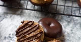 One Bowl Mini Baked Samoa Donuts