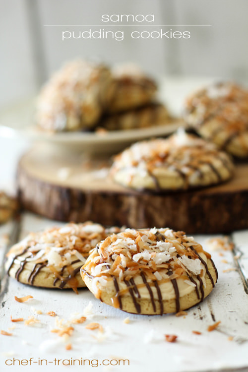 Samoa Pudding Cookies | Chef In Training