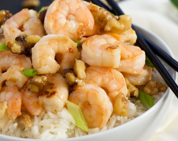 Skinny Honey Walnut Shrimp