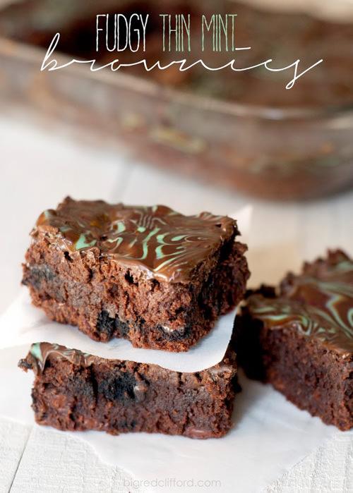 Fudgy Thin Mint Brownies | Color Me Meg