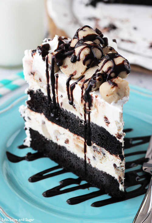 Chocolate Chip Cookie Dough Ice Cream Cake | Life, Love & Sugar