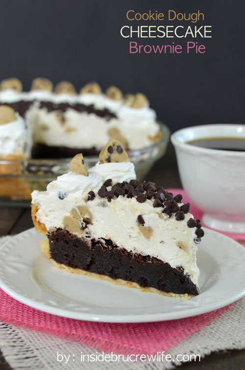 Cookie Dough Cheesecake Brownie Pie | Inside BueCrew Life