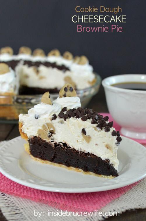Cookie Dough Cheesecake Brownie Pie | Inside BueCrew Life