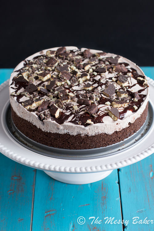 Thin Mint Ice Cream Pie | The Messy Baker
