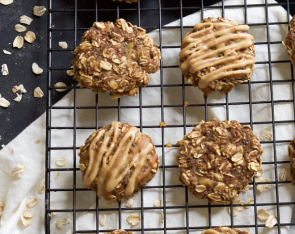 {One Bowl} Chia Seed Peanut Butter Banana Breakfast Cookies