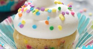 Greek Yogurt Funfetti Cupcakes for Two