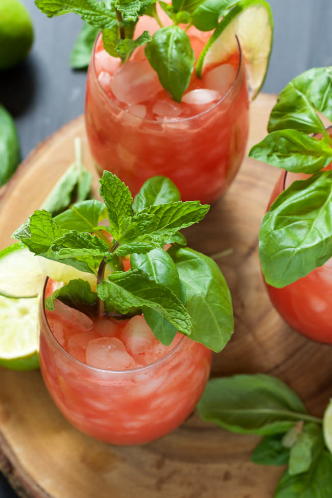 filled drink! Skinny Watermelon Limeade is pureed watermelon and lime ...
