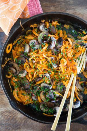 Sweet Potato Noodles with Mushrooms | What's Gaby Coking
