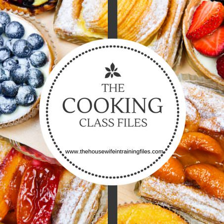 The Cooking Class Files | The Housewife in Training Files