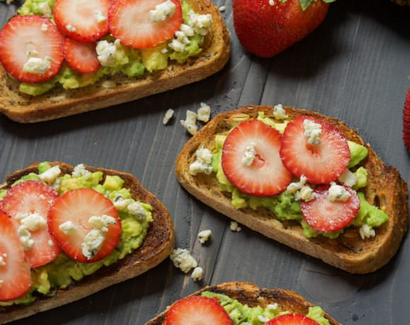 Blue Cheese & Strawberry Avocado Toast
