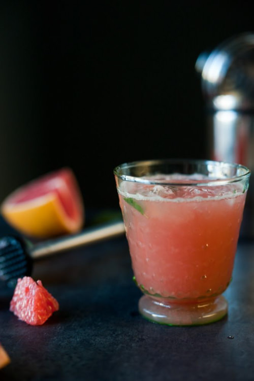 Grapefruit & Muddled Mint Fizz Mocktail   Bolig Photography