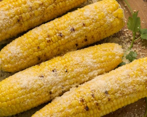 Grilled Garlic Parmesan Corn on the Cob