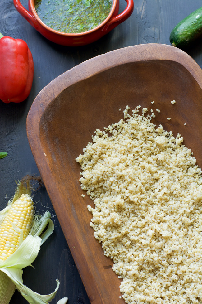 Grilled Summer Vegetable  Quinoa