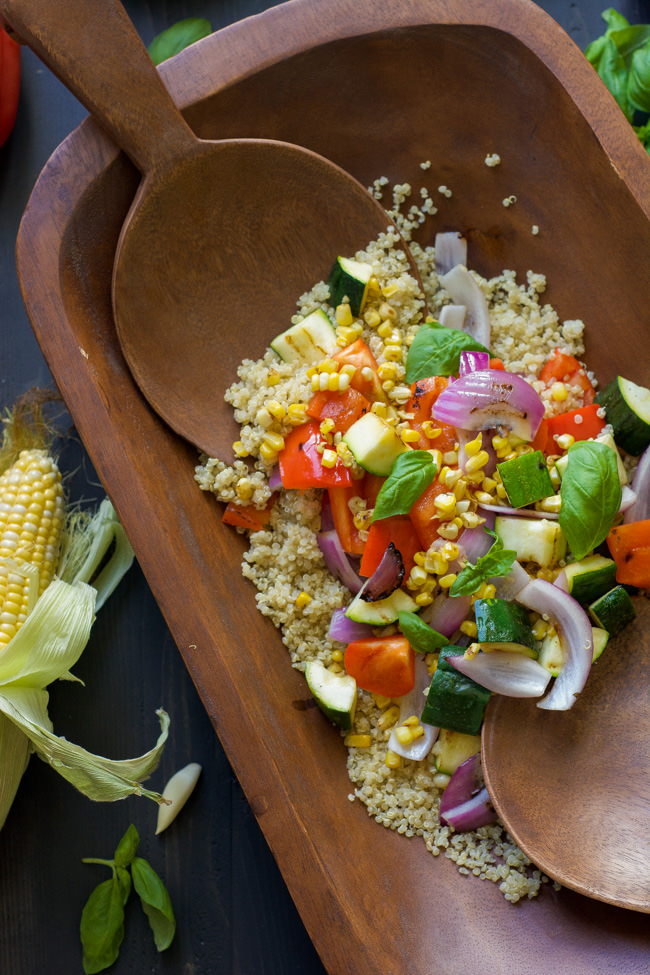 ... with flavors and drizzled with a light, Lemon Basil Vinaigrette