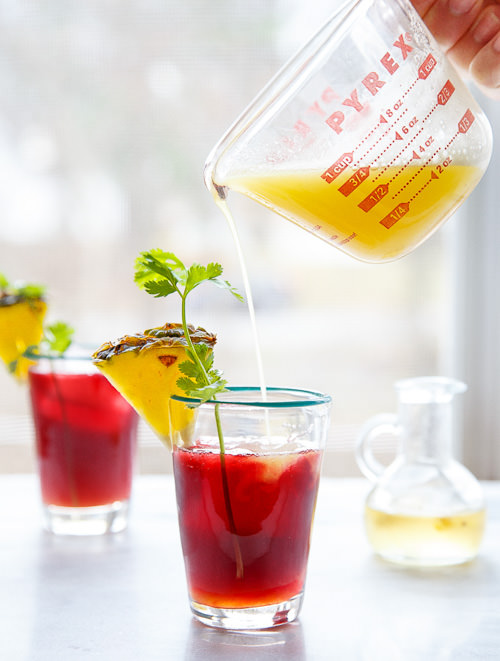 Pineapple Hibiscus Mocktail   Dessert for Two