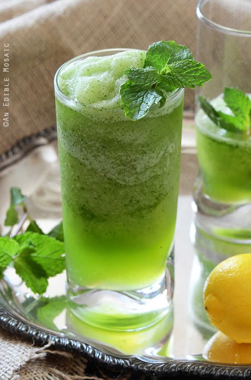 Frozen Mint Lemonade | An Edible Mosaic