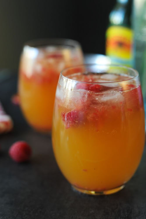 Mango Raspberry Mule Mocktail | Bolig Photography
