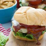 These Spicy BBQ Tex Mex Chicken Burgers are grilled to perfection and topped with spicy pepperjack cheese, juicy tomato and finished with a tangy BBQ ketchup.