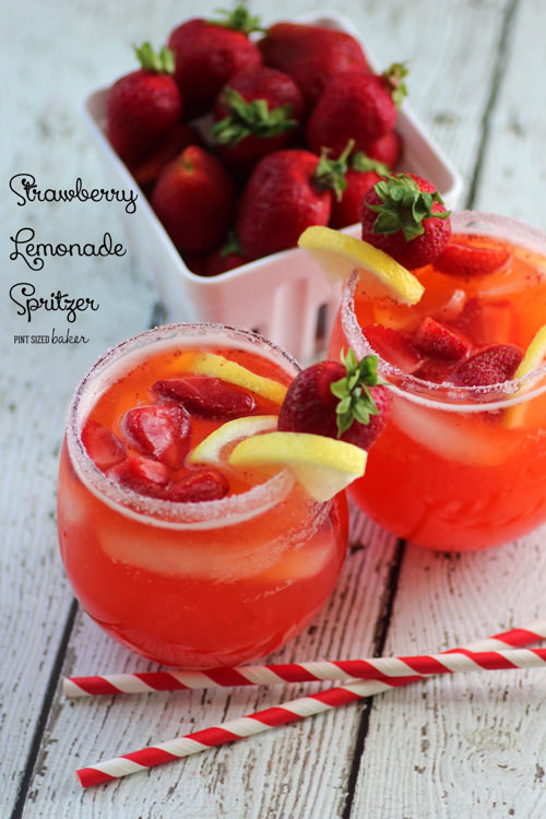 Strawberry Lemonade Spritzer | Pint Sized Baker