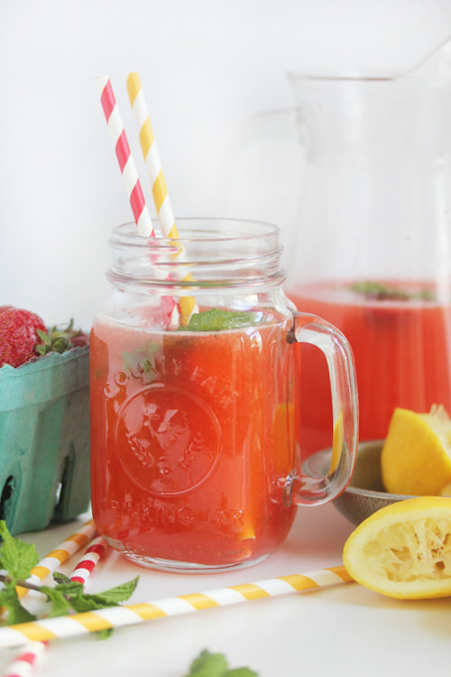 Strawberry Mint Lemonade | Lexi's Clean Kitchen