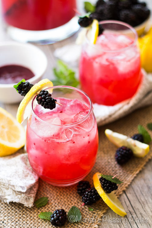 Skinny Blackberry Lemonade | Mariah's Pleasing Plates