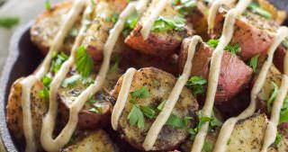 Roasted Herb Potatoes with Garlic Cumin Aioli