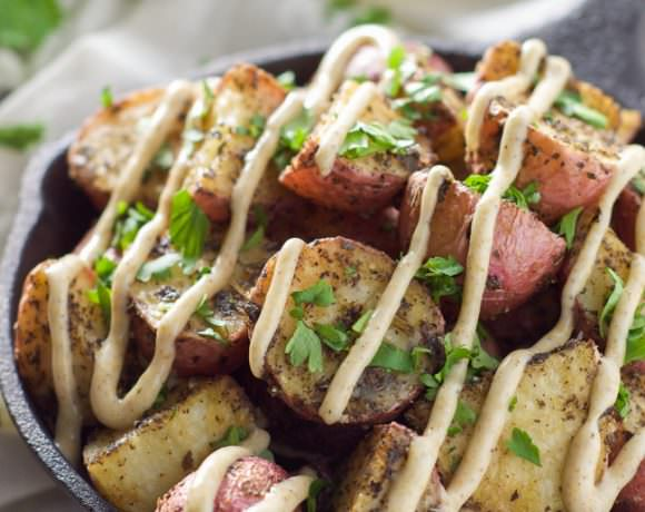 Roasted Herb Potatoes with Garlic Cumin Aioli