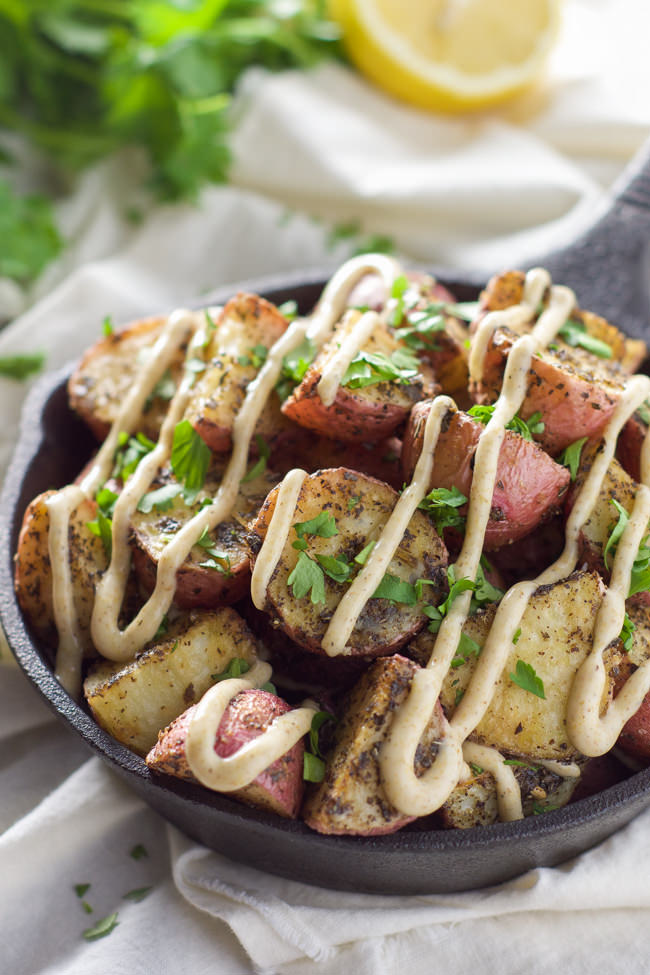 roasted herb potatoes with garlic cumin aioli megan yields 6 roasted ...