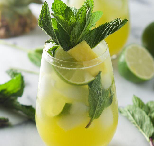 ... sparkling mint pineapple lemonade skinny sparkling mint pineapple