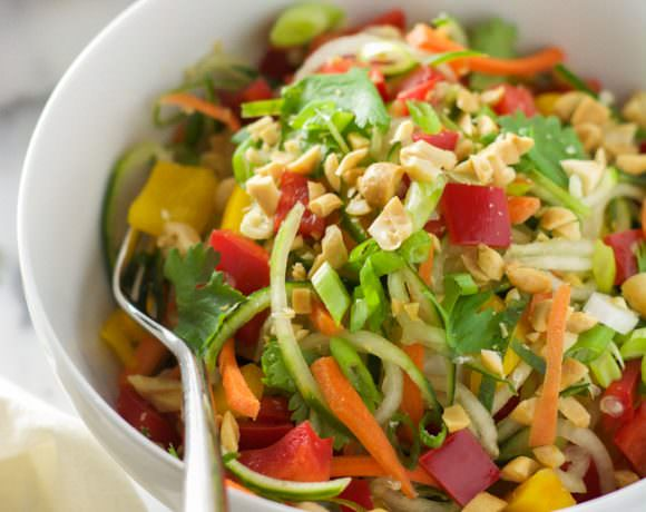 Thai Cucumber Salad Recipe with Peanut Chili Vinaigrette