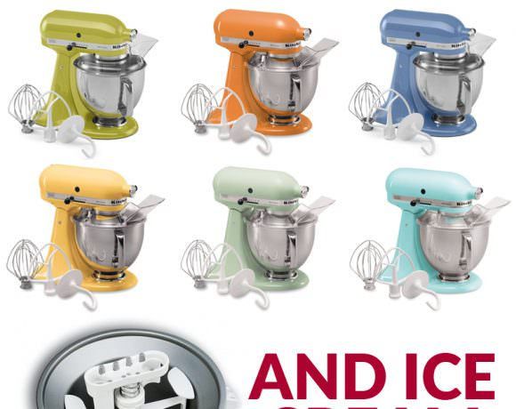 Kitchen Aid Mixer with Ice Cream Attachment Giveaway! {Closed}
