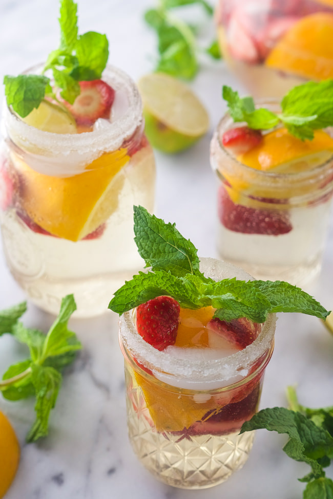Sparkling White Strawberry Sangria