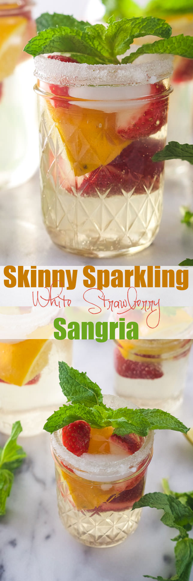 Sparkling White Strawberry Sangria is a refreshing, bubbly sangria loaded with tons of fresh strawberries and a crisp white wine!